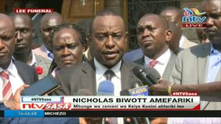 Nicholas Biwott dies in Nairobi - VIDEO