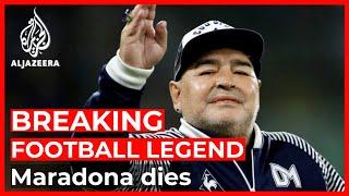 Breaking: Football legend Maradona has died