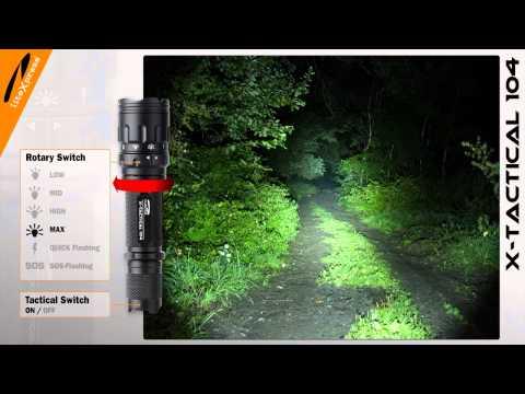 liteXpress LED-Taschenlampe X-TACTICAL 104