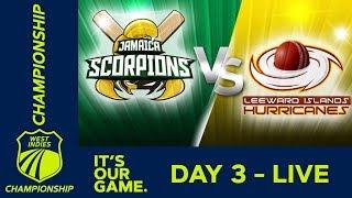 Jamaica v Leewards - Day 3   West Indies Championship   Saturday 2nd March  2019