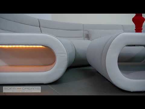 Sofa Dreams Wohnlandschaft Stoff Couch Concept mit LED Beleuchtung