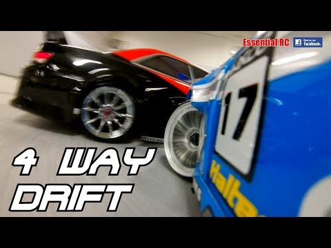 4 WAY RC CAR DRIFT MASTERS - CLOSE And TIGHT ONBOARD RC CAR ACTION ! (WRCC)