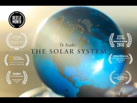 Sluneční soustava ve správném měřítku