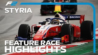 F2 Feature Race Highlights | 2020 Styrian Grand Prix