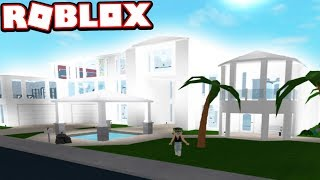 500 000 Modern Mansion Snowy White Subscriber Tours Roblox