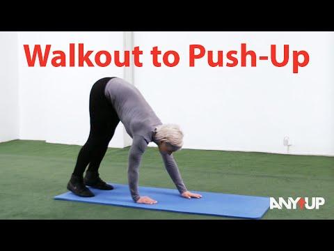 Walkout to Push-Up Bodyweight Training Exercise