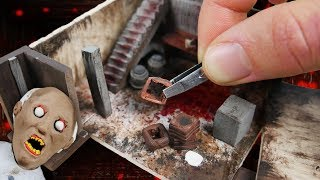 Making GRANNYS Basement Miniature House In POLYMER CLAY!