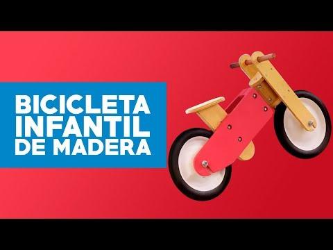 ¿Cómo construir una bicicleta infantil de madera?