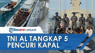 TNI AL Tangkap 5 Pencuri di Atas Kapal Tongkang di Selat Singapura