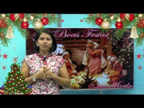 Mensagem de Natal e Boas Festas da Professora Marilene de Bom Lugar
