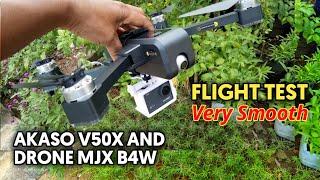 Akaso V50X and Drone MJX B4W Flight Test | Very Smooth