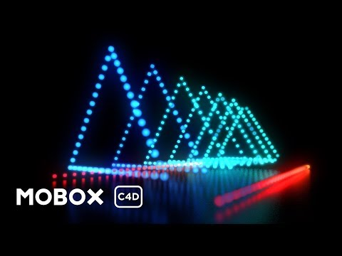 Dynamic LED Light Show – Cinema 4D Tutorial