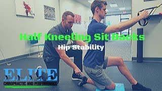 Half Kneeling Sit Backs   Hip Stability