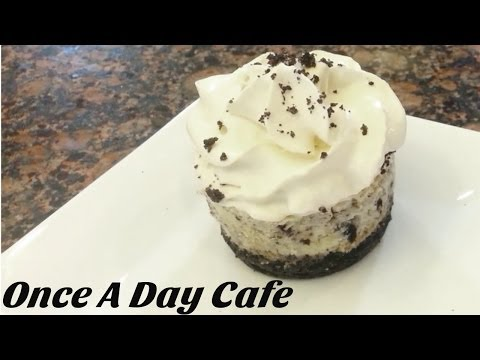 Oreo Cookies And Cream Cheesecake - Video Recipe - Once A Day Cafe