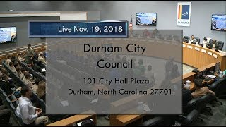 Durham City Council Nov 19, 2018