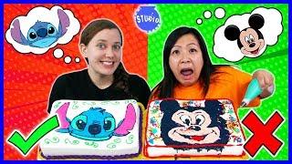 DISNEY CAKE CHALLENGE! Learn How To Do DIY Cake Art