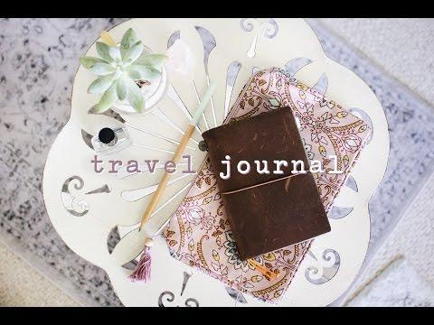 new travel journal setup