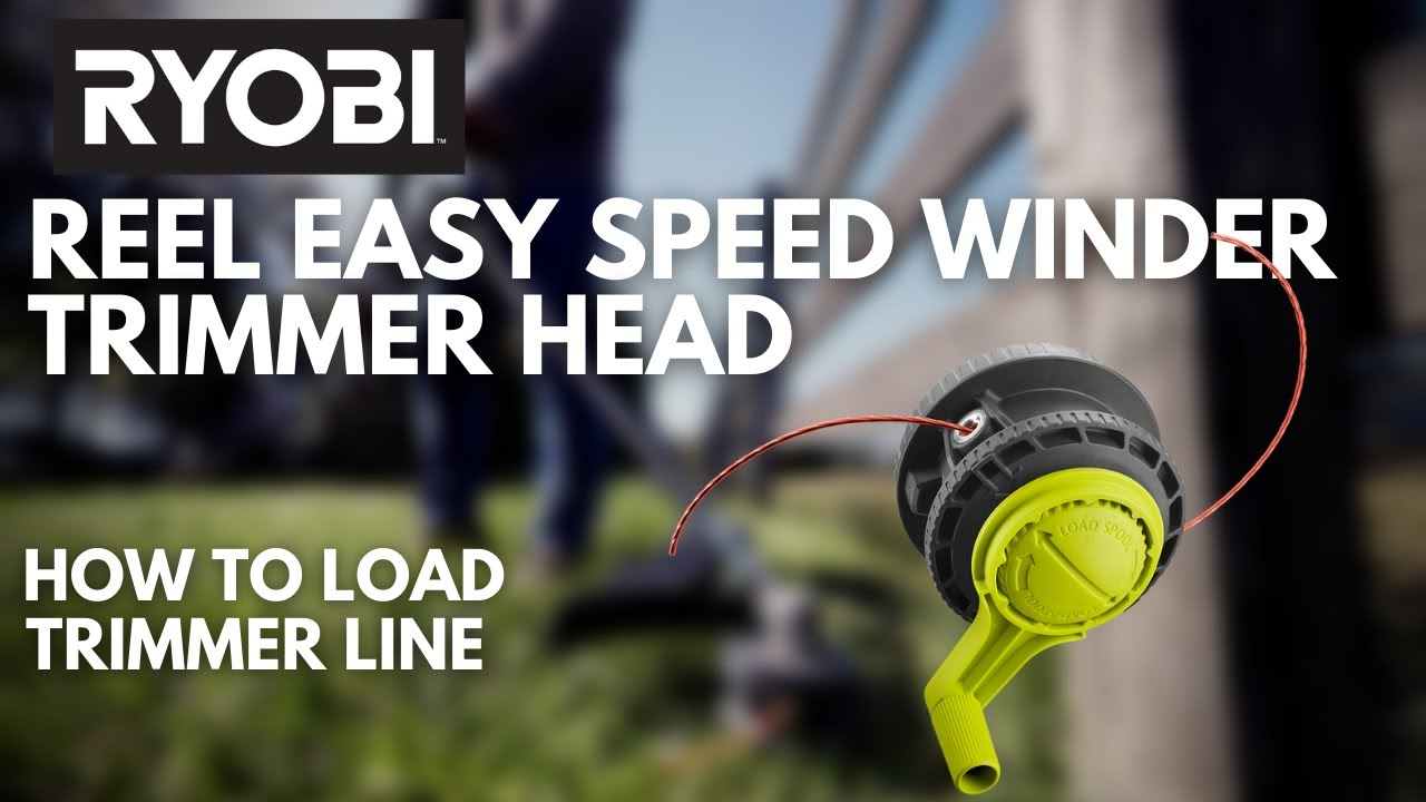 How To Load The Ryobi Reel Easy Bump Head With Speed