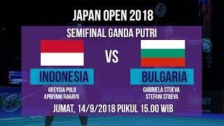 Live Streaming Semifinal Ganda Putri Japan Open 2018, Greysia/Apriyani Vs Bulgaria Pukul 15.00 WIB