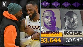 LeBron James PASSES Kobe Bryant on All-Time Scoring List | January 25, 2020