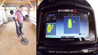 Invenio - Detection of a 50cm long 8mm rebar and an adjacent coin