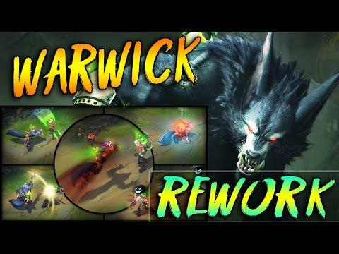 WARWICK REWORK CHAMPION SPOTLIGHT 2017 LOL German Deutsch Neuer Wolf NEW