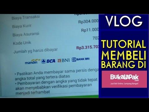 Video Tutorial Membeli barang di BUKALAPAK.com ( Vlog) #3