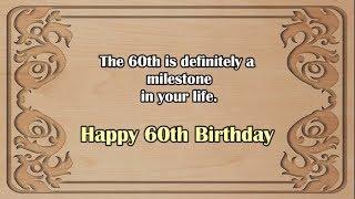 Happy 60th Birthday || 60th Birthday Wishes