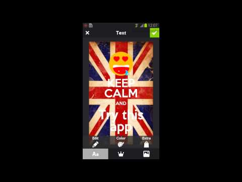 Video of Keep Calm Generator