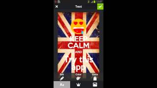 Keep Calm Generator (Android)