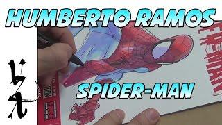 Humberto Ramos Drawing Spider-Man