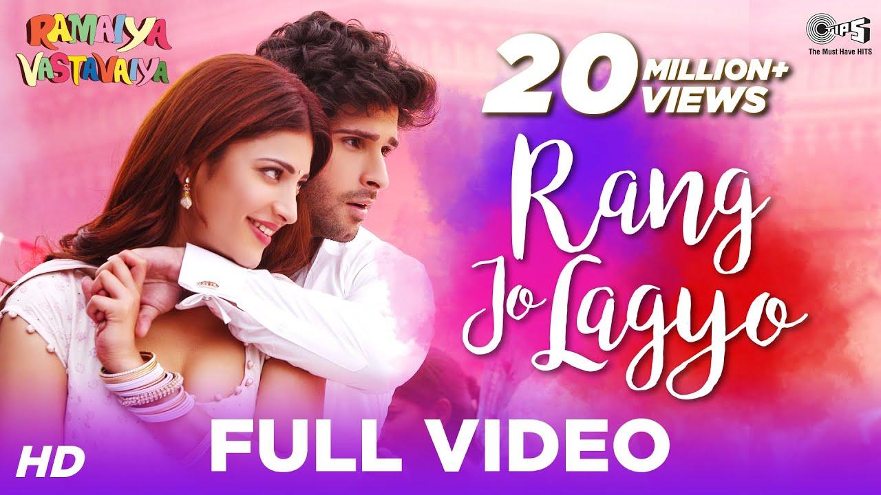 Rang Jo Lagyo - Ramaiya Vastavaiya   Girish Kumar, Shruti Haasan   Atif & Shreya - Atif Aslam, Shreya Ghoshal Lyrics in hindi