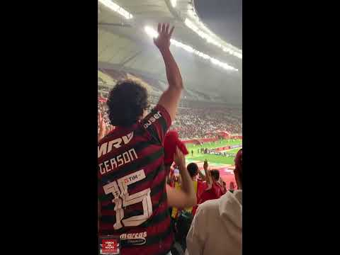 """""""Torcida do Flamengo no Catar contra o Al Hilal - Mundial de Clubes 2019"""" Barra: Nação 12 • Club: Flamengo"""