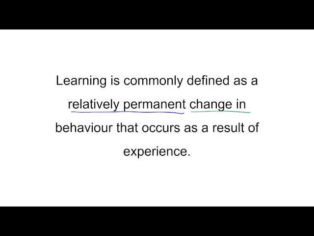 Definition Of Learning