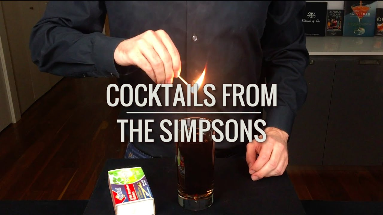 Learn How To Make A 'Flaming Homer' And Other Drinks From The Simpsons