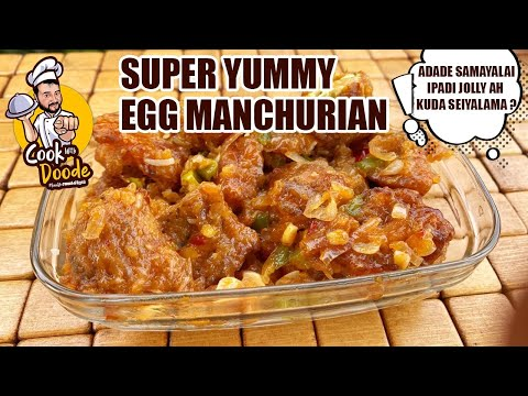 Super Yummy EGG MANCHURIAN Recipe in Tamil | Thirumalai Song Climax | Cook With Doode
