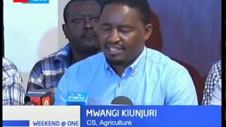 CS Kiunjuri has assured farmers that the government will not relent in fight against army worms