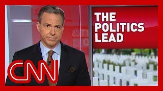 Jake Tapper calls out Trump's 'petty politics' while standing on solemn ground