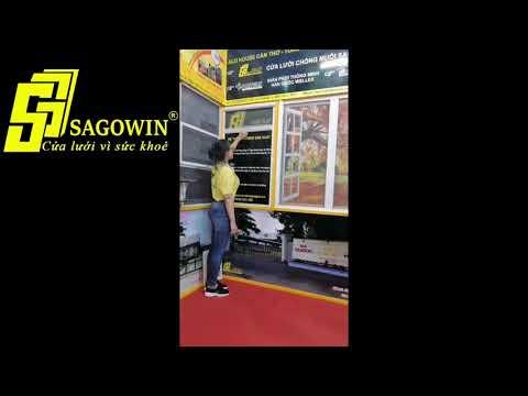 Cửa lưới cuốn lên chống bung mép Sagowin