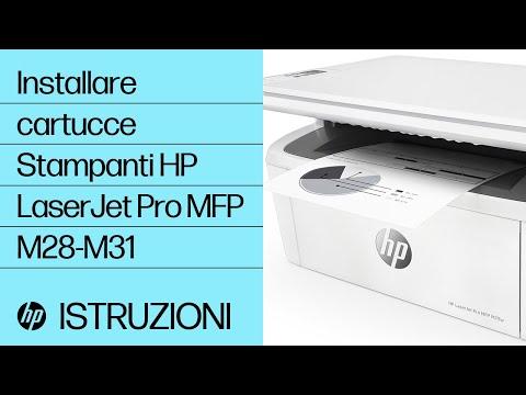 Come installare le cartucce nelle stampanti HP LaserJet Pro MFP M28-M31