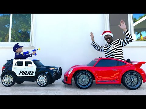 POLICE BABY Playing with TOYS and Pretend Play with Police Cars