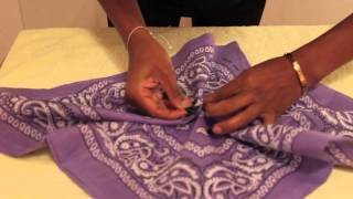 DIY FASHION @ SALFORD - HOW TO MAKE A TOP OUT OF A BANDANA