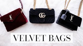 VELVET BAG COMPARISON: GUCCI MARMONT, SAINT LAURENT LOULOU & SUNSET