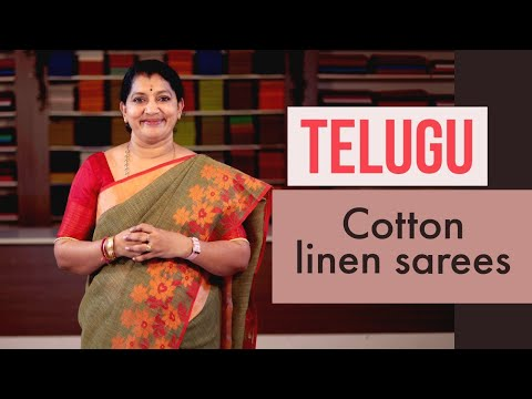 "<p style=""color: red"">Video : </p>NEW COTTON LINEN SAREES COLLECTIONS 