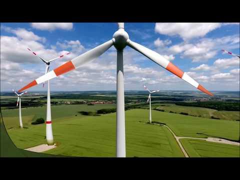 Windrad Windmühle Drohne Phantom 4