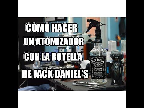 COMO HACER UN ATOMIZADOR CON LA BOTELLA DE JACK DANIEL'S