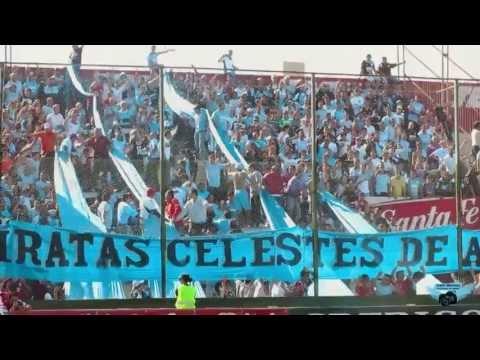 """""""La Banda está alentando como en todas las canchas"""" Barra: Los Piratas Celestes de Alberdi • Club: Belgrano"""