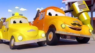 Odtahové auto pro děti - Demoliční jeřáb Dan uvízne v roztaveném asfaltu