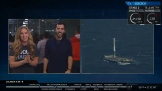 SpaceX: CRS-8 | First Successful Ocean Landing (4.8.16)