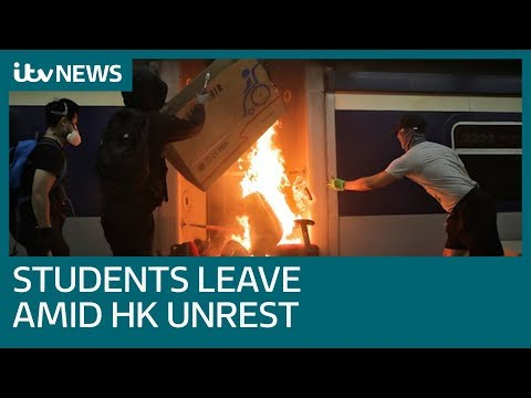 Students from mainland China leave Hong Kong after more unrest | ITV News